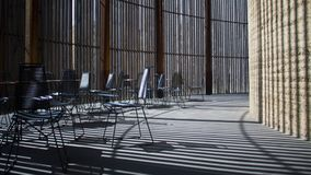 berlin kyrka Tabeller och stolar Royaltyfria Bilder