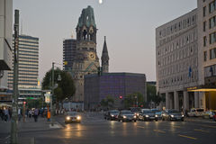 berlin kyrklig kaiserminnesmärke wilhelm Royaltyfri Bild