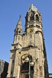 berlin kyrklig kaiserminnesmärke wilhelm Royaltyfri Fotografi