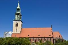 berlin kyrklig marienkirchemary st Royaltyfri Fotografi