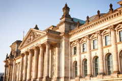 Berlin landmark - the Reichstag building Royalty Free Stock Images