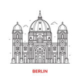 Berlin Landmark Vector Icon illustration stock