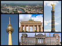 Berlin landmarks collage Stock Photo
