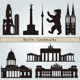 Berlin landmarks and monuments Royalty Free Stock Photos