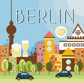 Berlin Landscape Vector Illustration Royalty Free Stock Photography