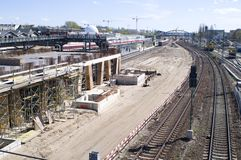 Berlin large construction site Stock Images