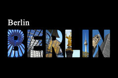 Berlin letters with sightseeing points Stock Images