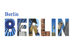Berlin letters with sightseeing points Royalty Free Stock Image
