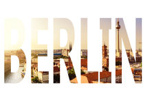 Berlin in letters Royalty Free Stock Photography