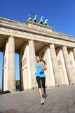 Berlin lifestyle - running woman in Germany Stock Photos