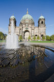 Berlin. Lustgarten. Fountain in front of the Berlin Cathedral Stock Photography