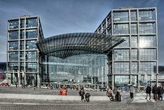 Berlin - Main station - hauptstation royalty free stock photos