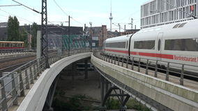 Berlin Main Station Tracks stock footage