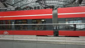 Berlin Main Station Tracks stock video