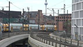 Berlin Main Station Tracks stock footage