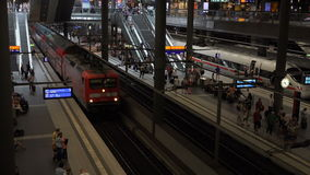 Berlin Main Station Tracks stock video