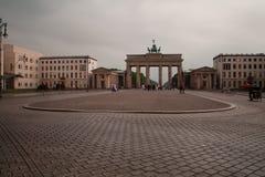 Berlin - MAJ 11, 2015: Brandenburg port på Augusti 4 i Tyskland, Berlin Royaltyfria Bilder