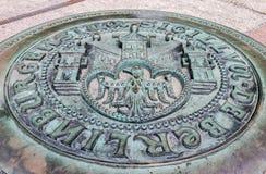 Berlin Manhole Stockbild