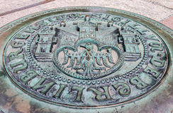Berlin Manhole stock image