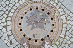 Berlin manhole cover Stock Photos
