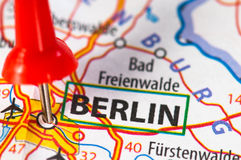 Berlin on a map Stock Photo