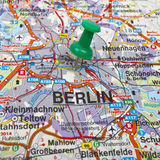 Berlin Map Royalty Free Stock Photography