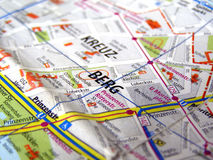 Berlin map Royalty Free Stock Images