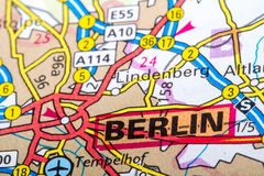 Berlin map Stock Photography