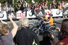 Berlin Marathon handbiker Royalty Free Stock Photos