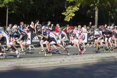 Berlin Marathon skating Stock Images