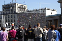 Berlin Marathon spectators Brandenburger Tor Stock Images