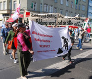 Berlin, March 1 - Demonstration on May Day Royalty Free Stock Images