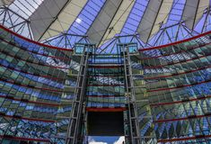 BERLIN, 01 May 2015 GERMANY The Sony Center on Potsdamer Platz,. BERLIN, GERMANY 01 May 2015: The Sony Center on Potsdamer Platz. Sony Center located at the Royalty Free Stock Images