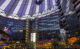 BERLIN, 01 May 2015 GERMANY The Sony Center on Potsdamer Platz,. BERLIN, GERMANY 01 May 2015: The Sony Center on Potsdamer Platz. Sony Center located at the Royalty Free Stock Photography