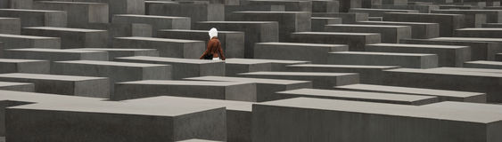 Berlin Memorial Murdered Jews Stock Photos