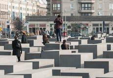Berlin Memorial per gli ebrei assassinati di Europa Fotografia Stock Libera da Diritti