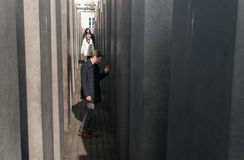 Berlin Memorial per gli ebrei assassinati di Europa Immagine Stock