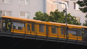 Berlin metro depart the station stock footage