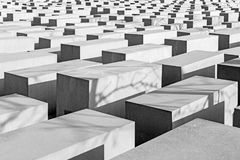 Berlin - The modern architecture of memorial of Holocaust.  Stock Photography
