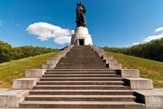 Berlin monument Soviet soldiers V1 Stock Photography