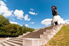 Berlin monument Soviet soldiers V2 Royalty Free Stock Photography