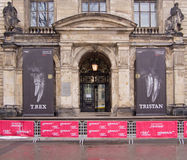 Berlin museum of Natural History, famous exhibition of Tyrannosaurus rex Tristan. Berlin, Germany - January 15, 2016: Berlin museum of Natural History (Museum f Stock Images