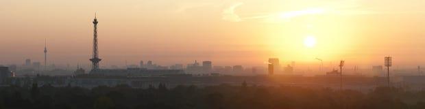 berlin nad wschód słońca Obrazy Royalty Free