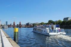 Berlin. Near the Spree river, a boat trip Stock Image