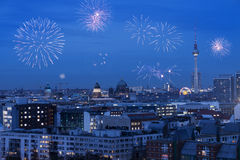 Berlin New Year& x27;s Eve stock image