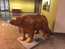 Berlin niedźwiadkowa Złota statua obrazy royalty free