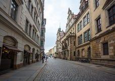 22 01 2018 Berlin, Niemcy - Antyczna dziejowa ćwiartka i stre Zdjęcia Royalty Free