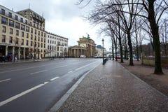 19 01 2018 Berlin, Niemcy - droga kierunek Brande Obraz Stock