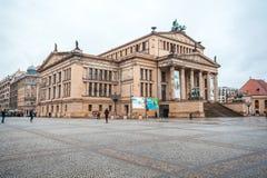 25 01 2018 Berlin, Niemcy - filharmonia w Gendarmenmarkt jeden Fotografia Royalty Free