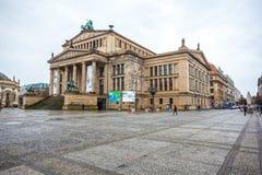 25 01 2018 Berlin, Niemcy - filharmonia w Gendarmenmarkt jeden Obraz Stock